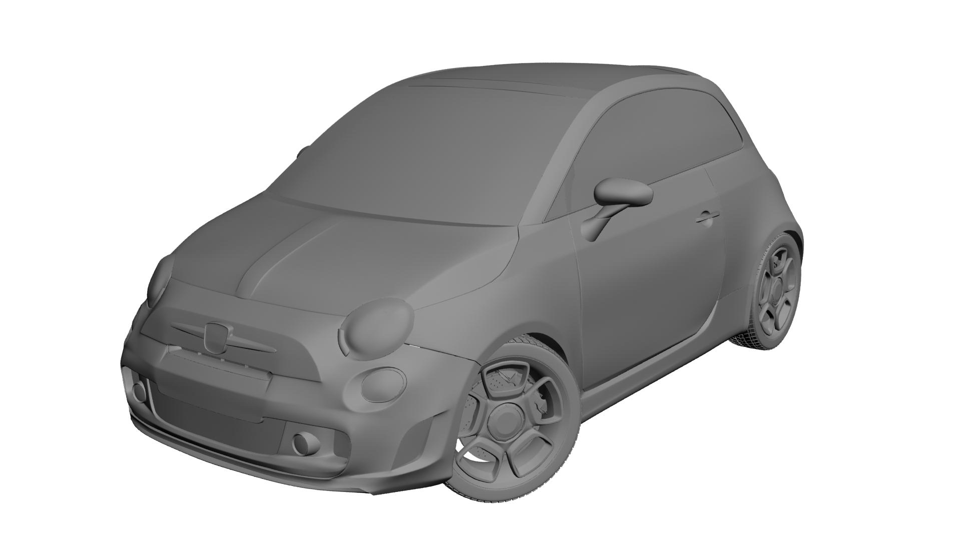 2010 fiat 500c abarth 3d modelis max 141166