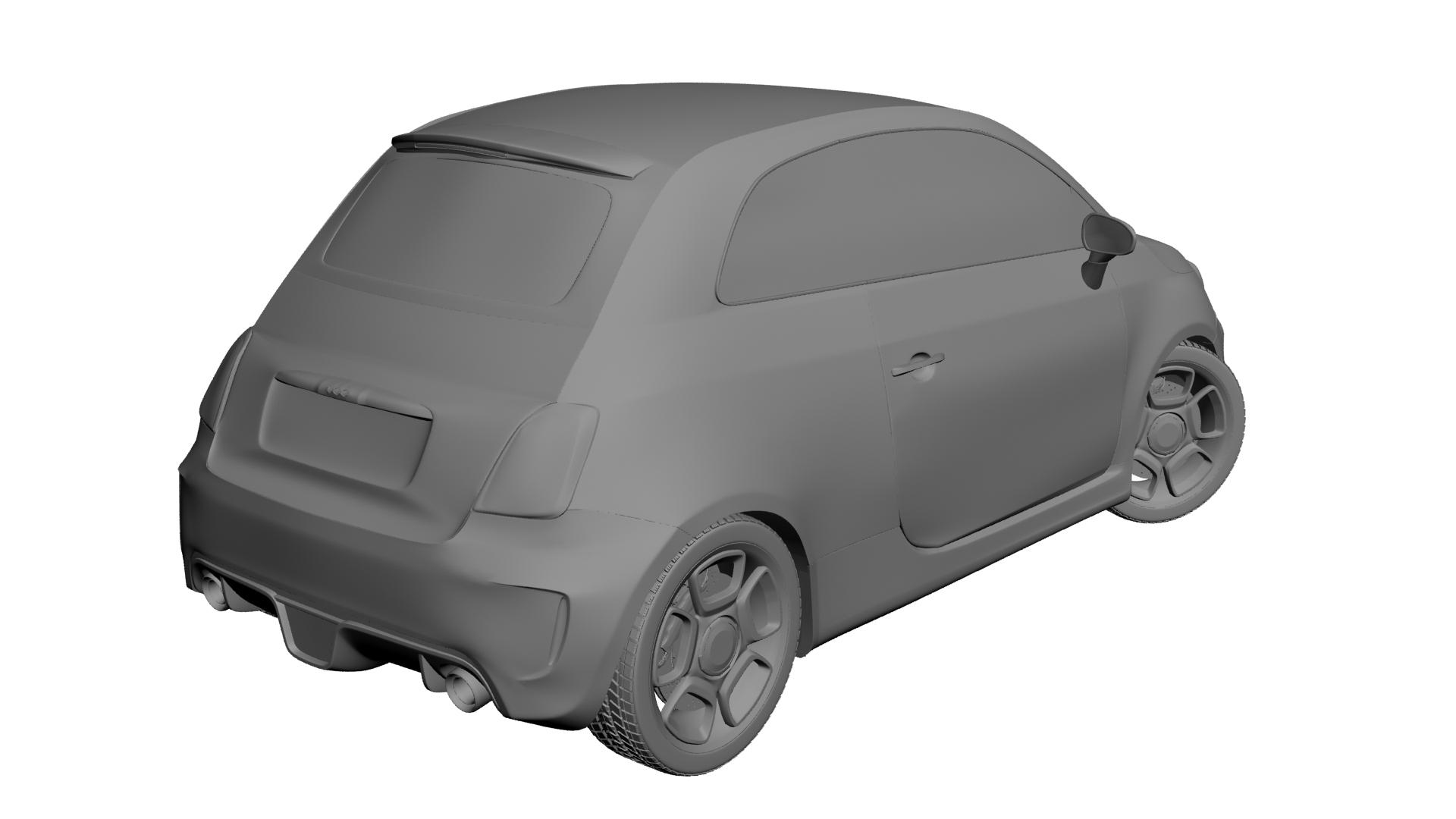 2010 fiat 500c abarth 3d modelis max 141167