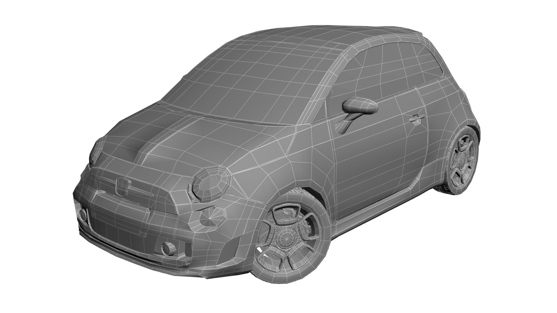 2010 fiat 500c abarth 3d modelis max 141168