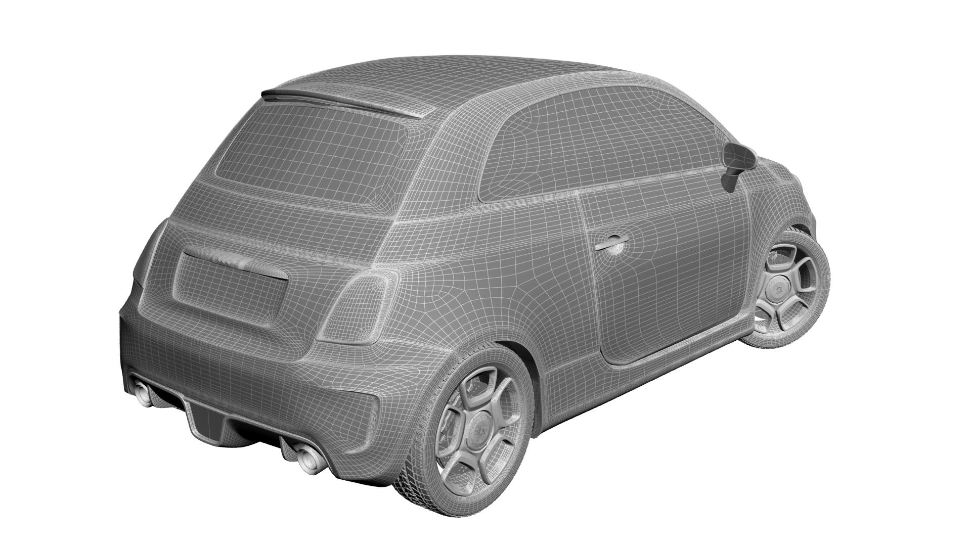 2010 fiat 500c abarth 3d modelis max 141169