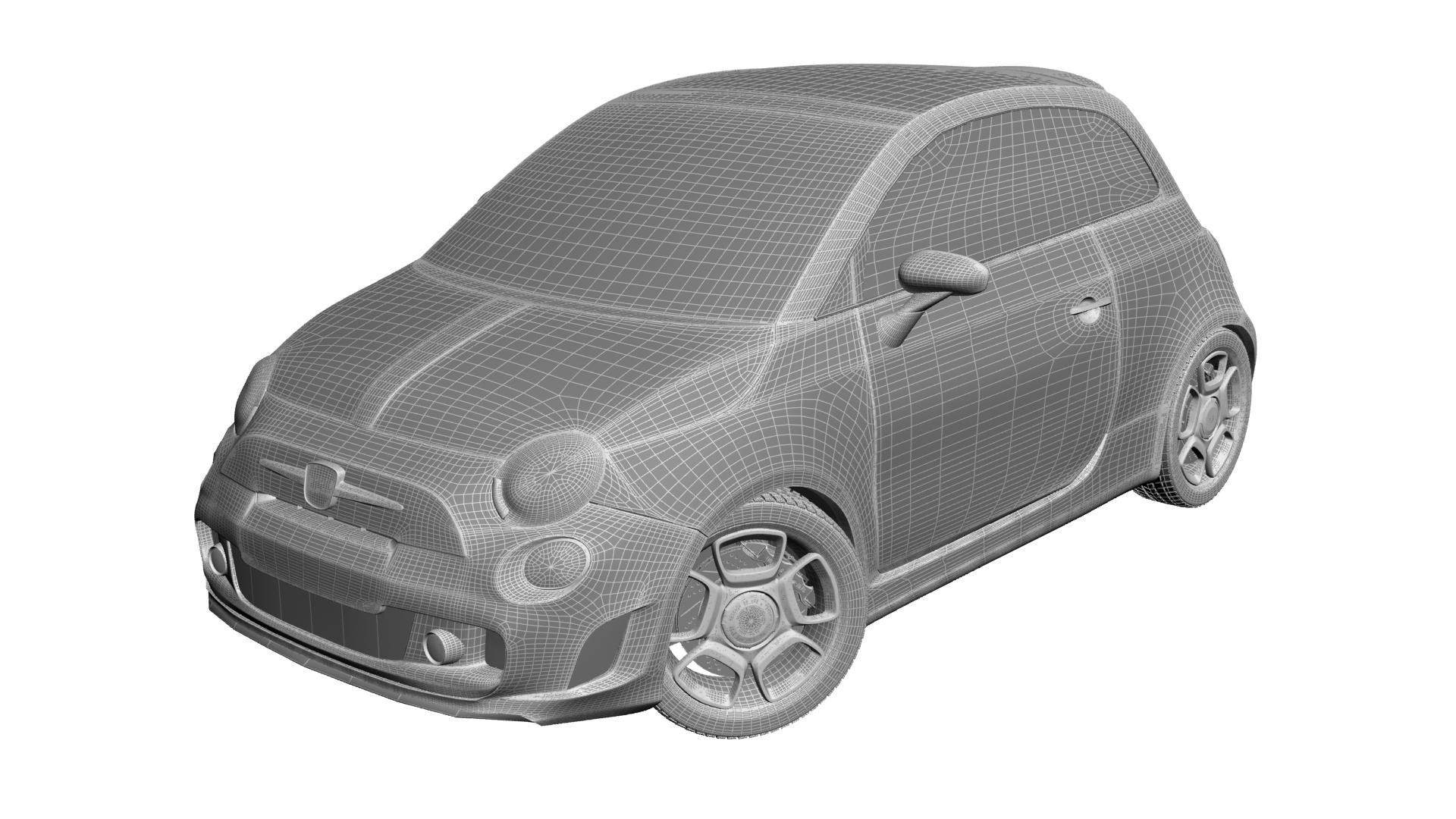 2010 fiat 500c abarth 3d modelis max 141171