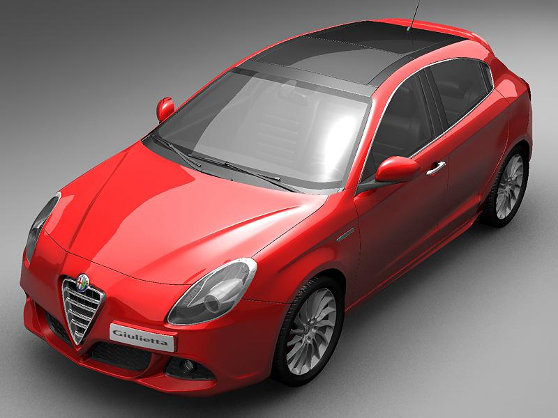 2011 alfa romeo giulietta model 3ds max fbx c3d lwo hrc xsi obj 4