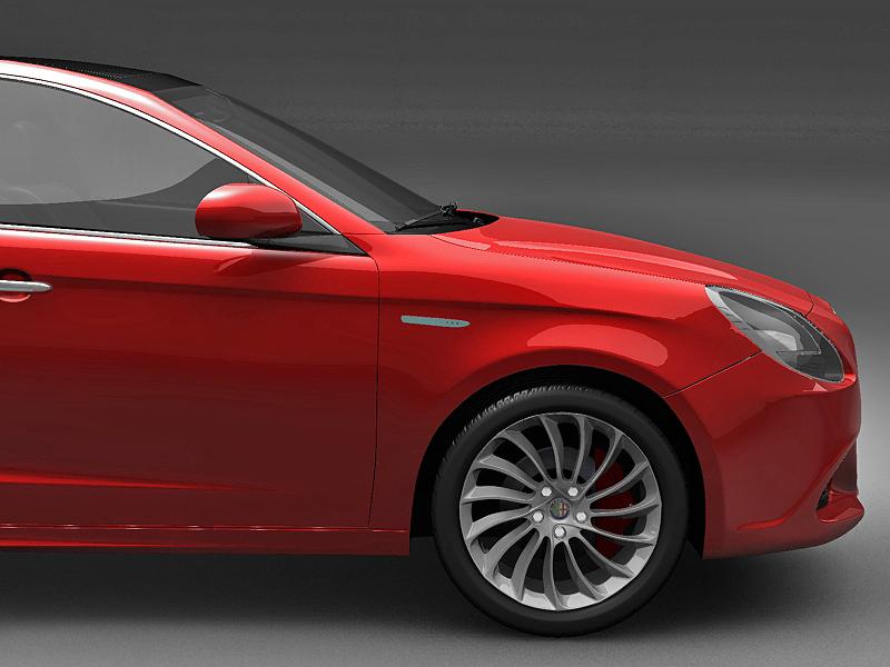 2011 alfa romeo giulietta 3d загвар 3ds max fbx c4d lwo hrc xsi obj 161722