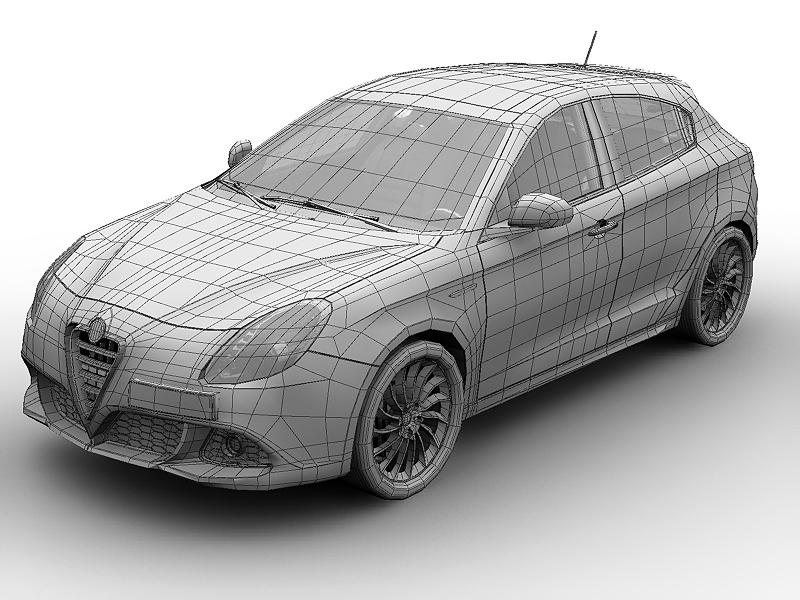 2011 alfa romeo giulietta 3d загвар 3ds max fbx c4d lwo hrc xsi obj 161725