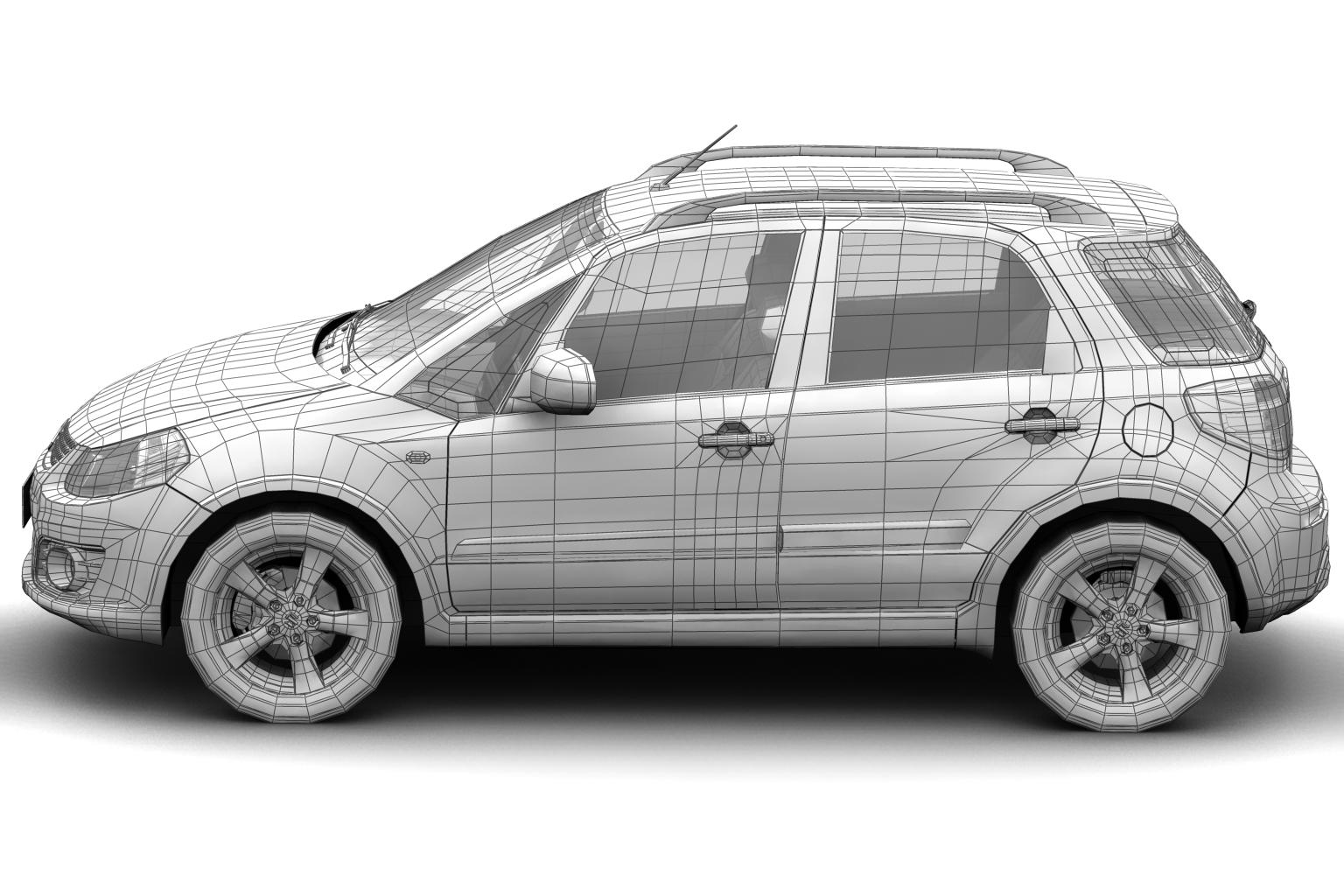 2011 suzuki sx4 model 3d 3ds max fbx c4d lwo hrc xsi obj 136234