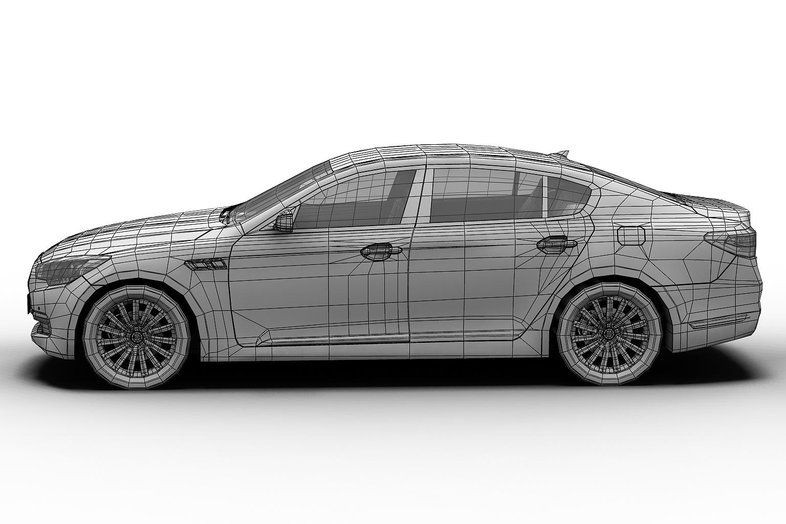 2012 kia k9 3d model 3ds max fbx c4d lwo hrc xsi obj 136306