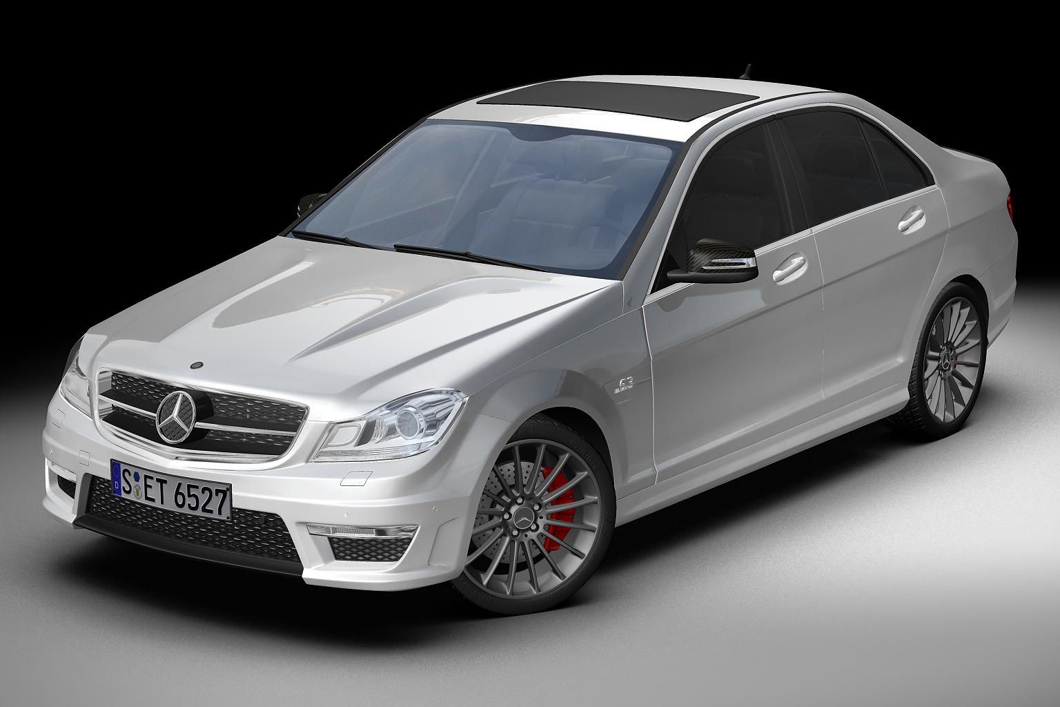 2012 mercedes benz c63 amg 3d модел 3ds макс fbx c4d lwo hrc xsi obj 136247