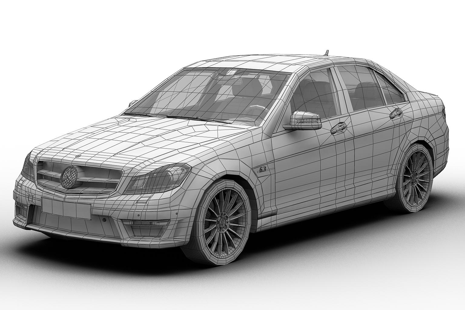 2012 mercedes benz c63 amg 3d modeli 3ds max fbx c4d lwo hrc xsi obj 136255