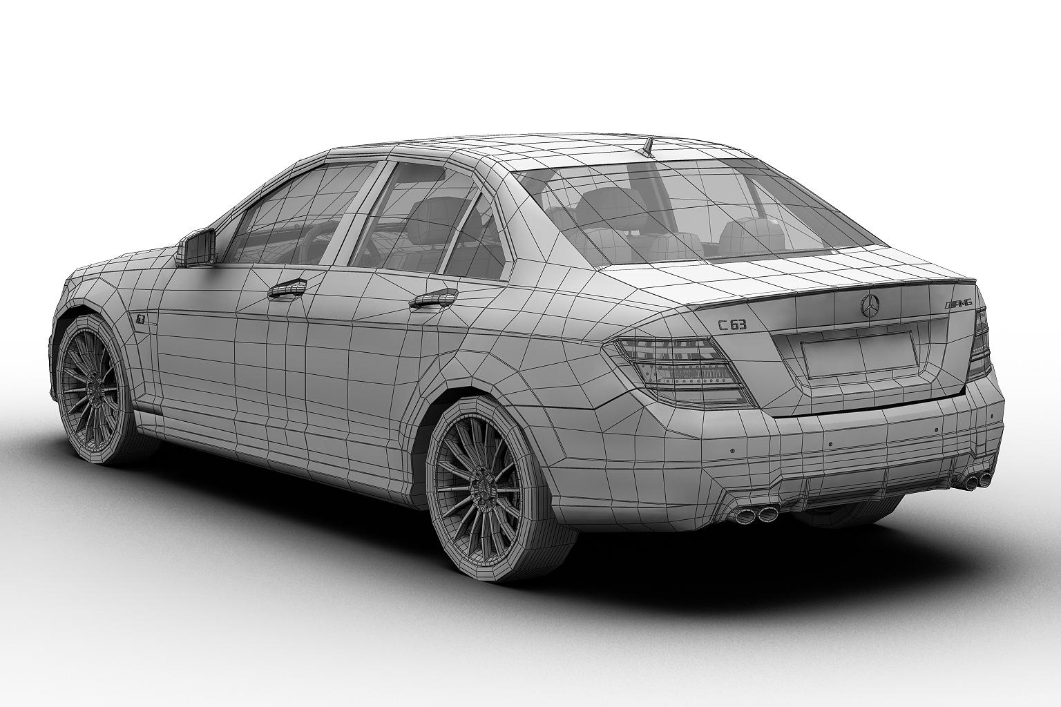 2012 mercedes benz c63 amg 3d modeli 3ds max fbx c4d lwo hrc xsi obj 136257