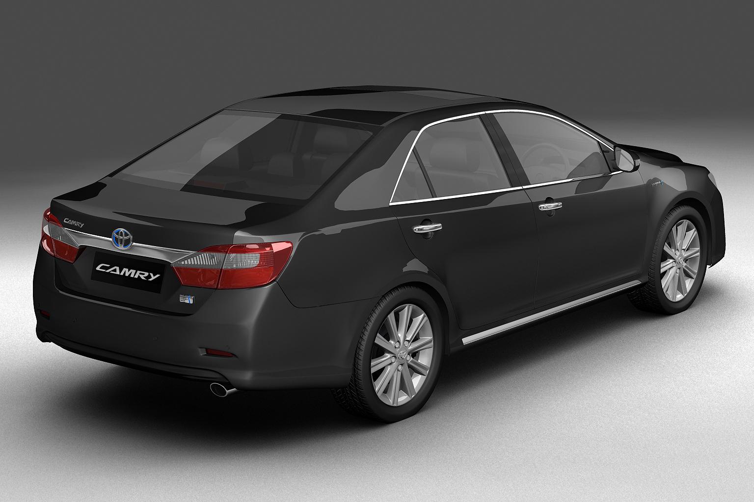 2012 toyota camry model 3d hybrid (asian) 3ds max fbx c4d lwo hrc xsi obj 136185