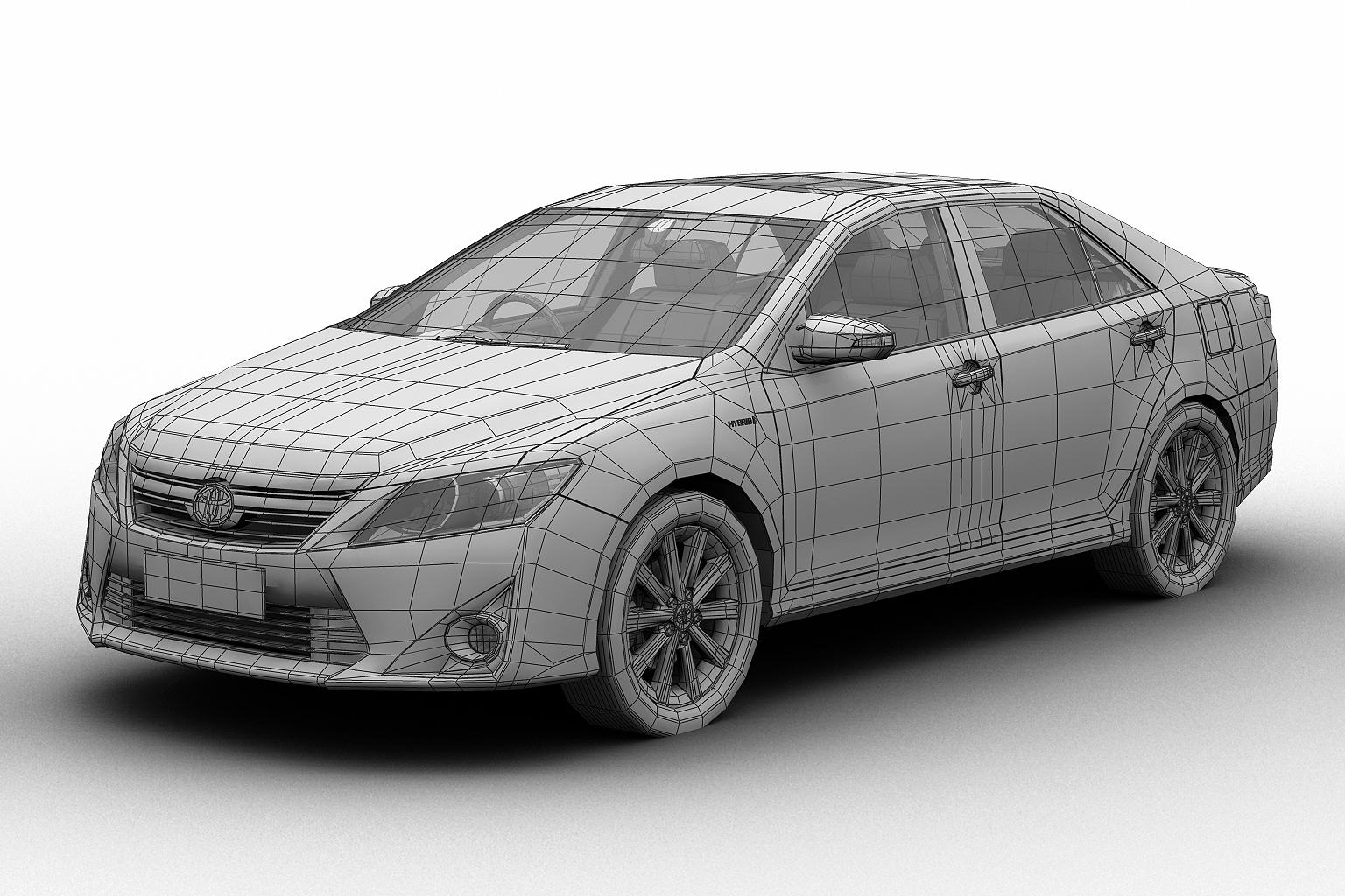 2012 toyota camry model 3d hybrid (asian) 3ds max fbx c4d lwo hrc xsi obj 136190