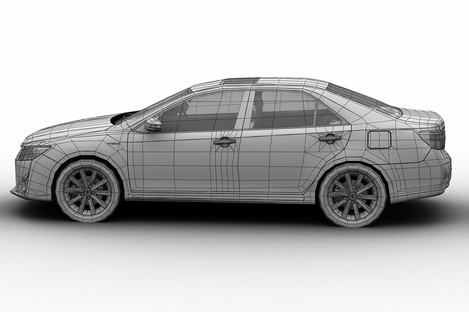 2012 toyota camry model 3d hybrid (asian) 3ds max fbx c4d lwo hrc xsi obj 136191