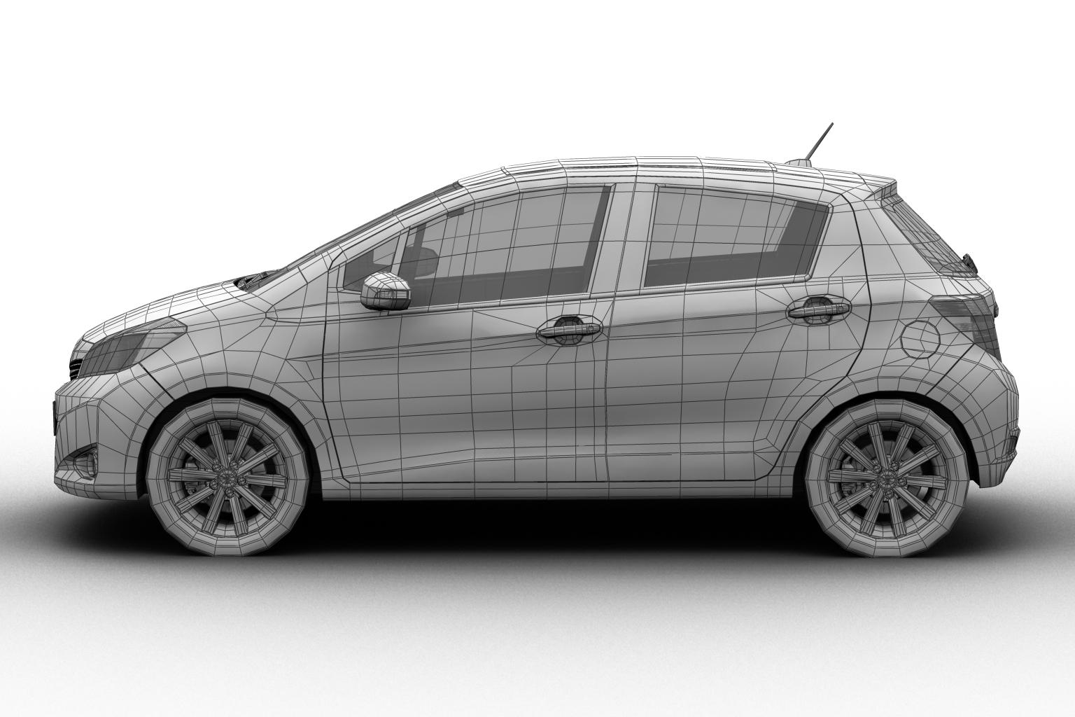2012 toyota yaris (vitz) 3d model 3ds max fbx c4d lwo hrc xsi obj 136169