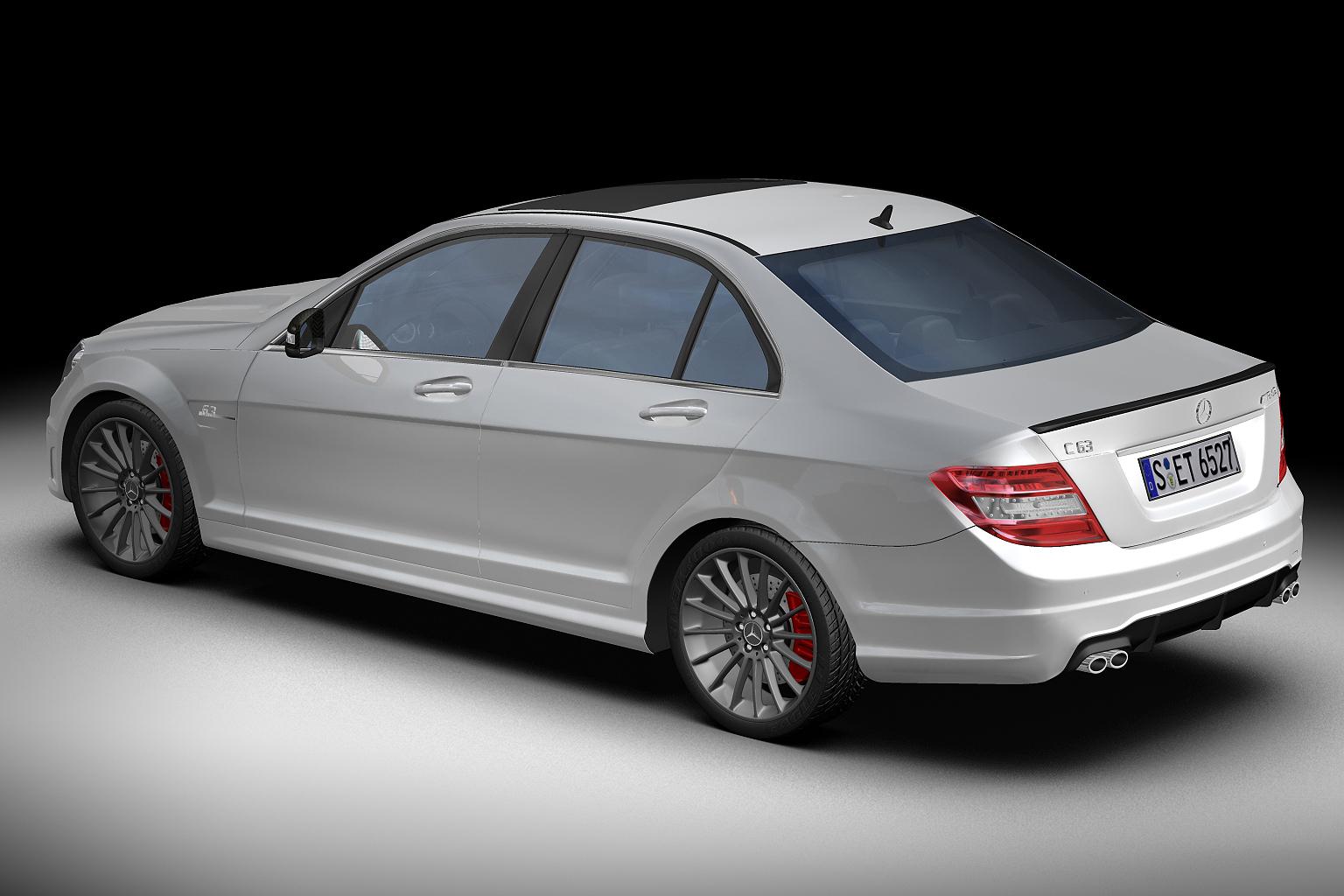 2012 mercedes benz c63 amg 3d model buy 2012 mercedes for Mercedes benz amg models