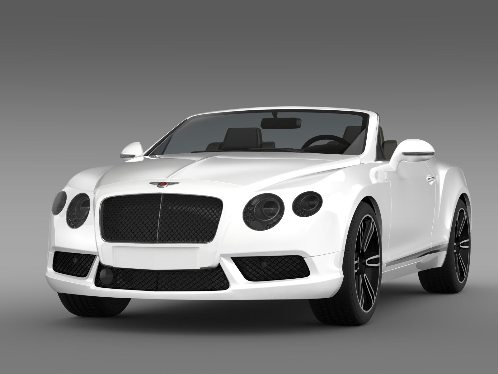 2013 bentley continental gtc v8 3d model 3ds max fbx c4d