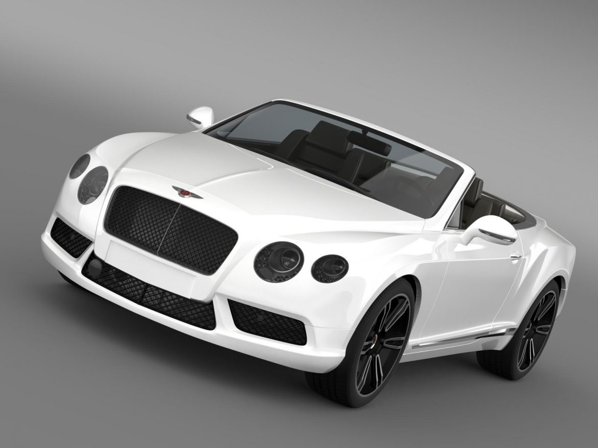 2013 bentley continental gtc v8 3d model 3ds max fbx c4d lwo ma mb hrc xsi obj 164078