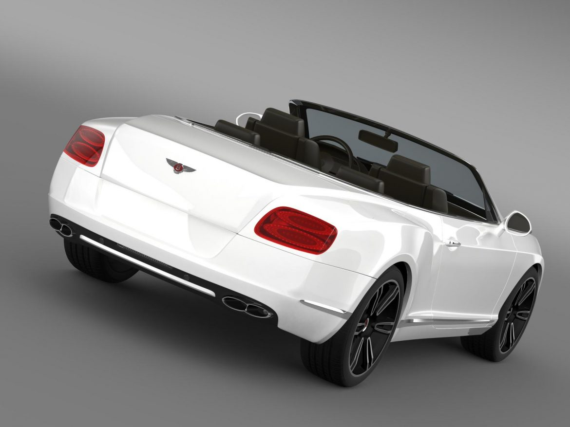 2013 bentley continental gtc v8 3d model 3ds max fbx c4d lwo ma mb hrc xsi obj 164079