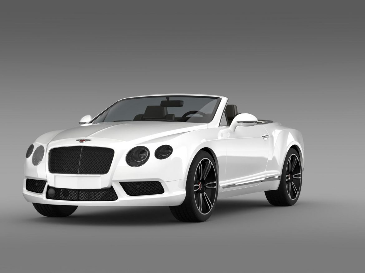 2013 bentley continental gtc v8 3d model 3ds max fbx c4d lwo ma mb hrc xsi obj 164080