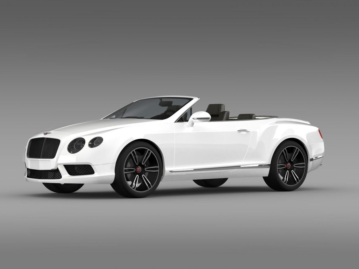 2013 bentley continental gtc v8 3d model 3ds max fbx c4d lwo ma mb hrc xsi obj 164081