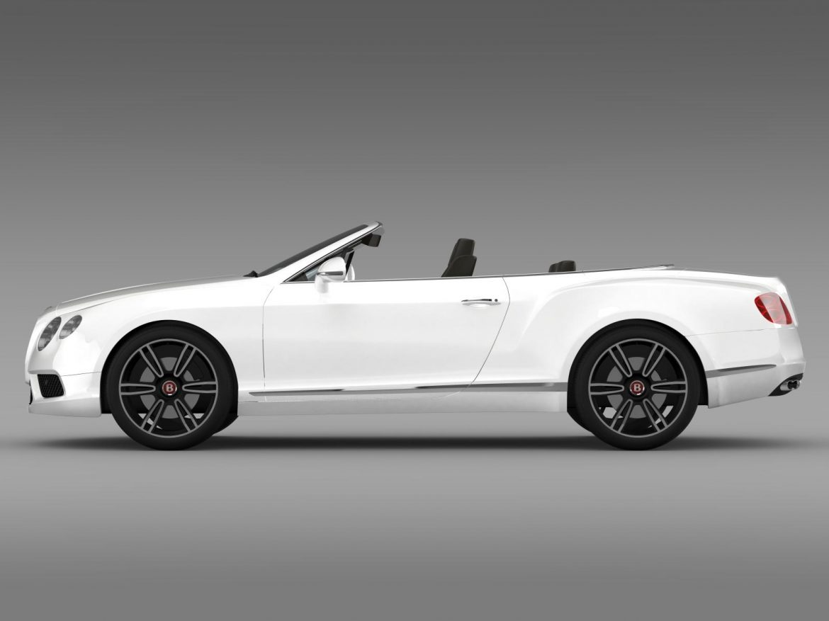 2013 bentley continental gtc v8 3d model 3ds max fbx c4d lwo ma mb hrc xsi obj 164082