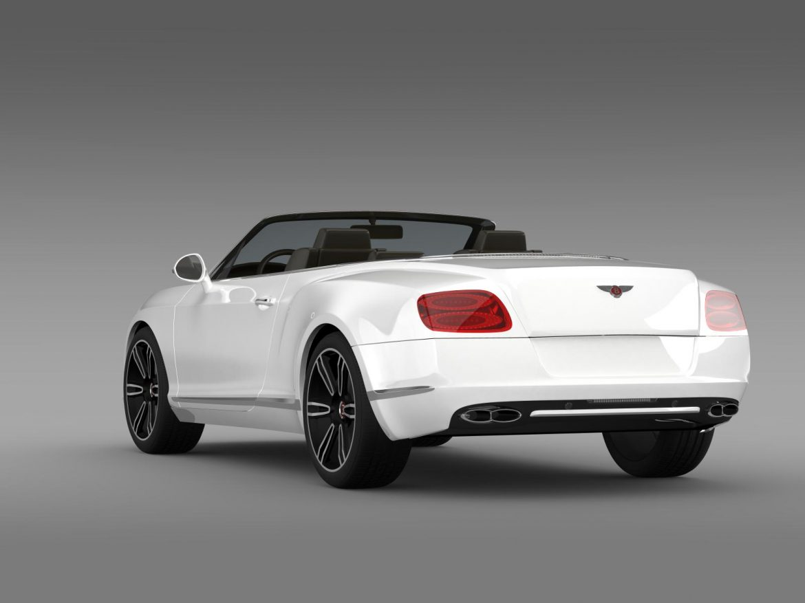 2013 bentley continental gtc v8 3d model 3ds max fbx c4d lwo ma mb hrc xsi obj 164084