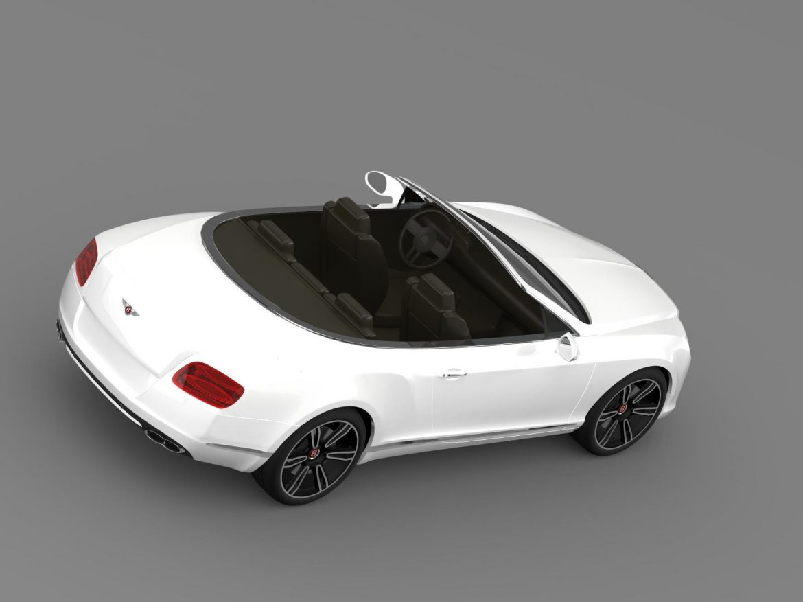2013 bentley continental gtc v8 3d model 3ds max fbx c4d lwo ma mb hrc xsi obj 164086