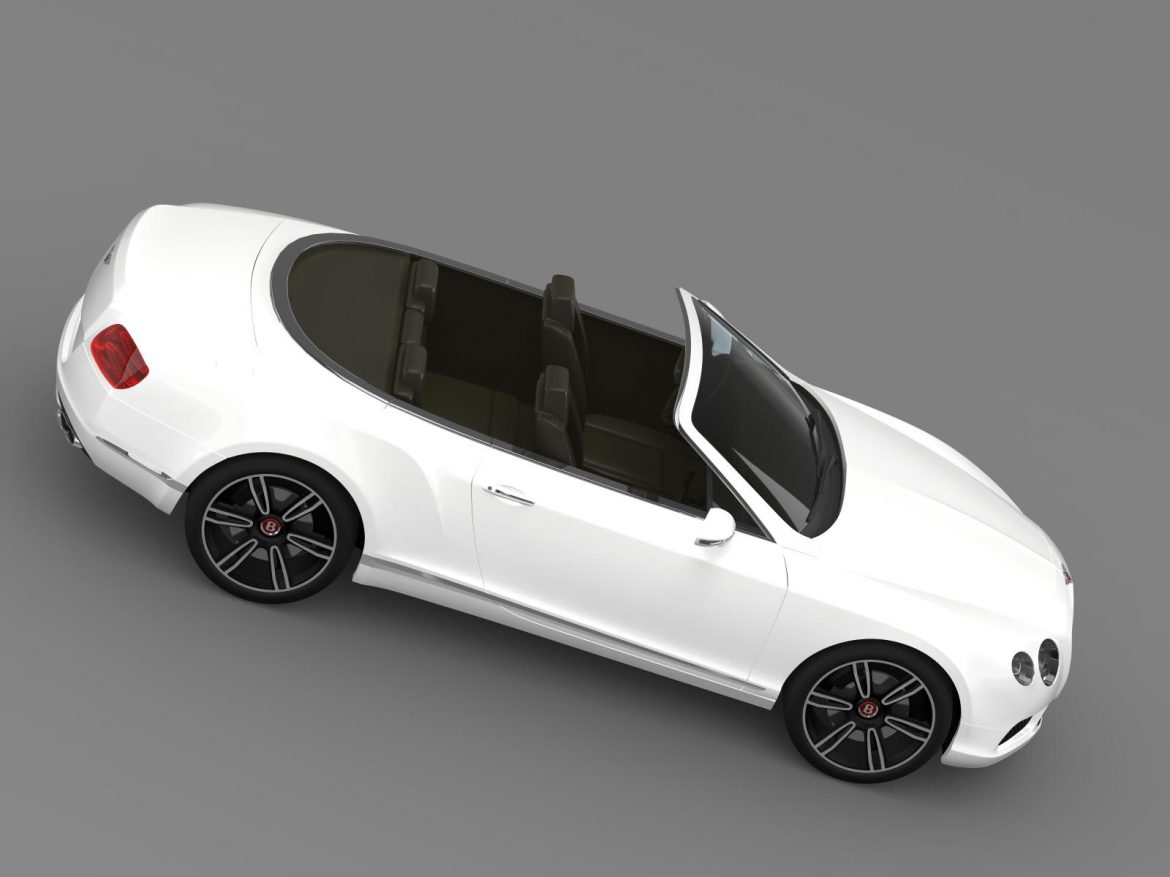 2013 bentley continental gtc v8 3d model 3ds max fbx c4d lwo ma mb hrc xsi obj 164087