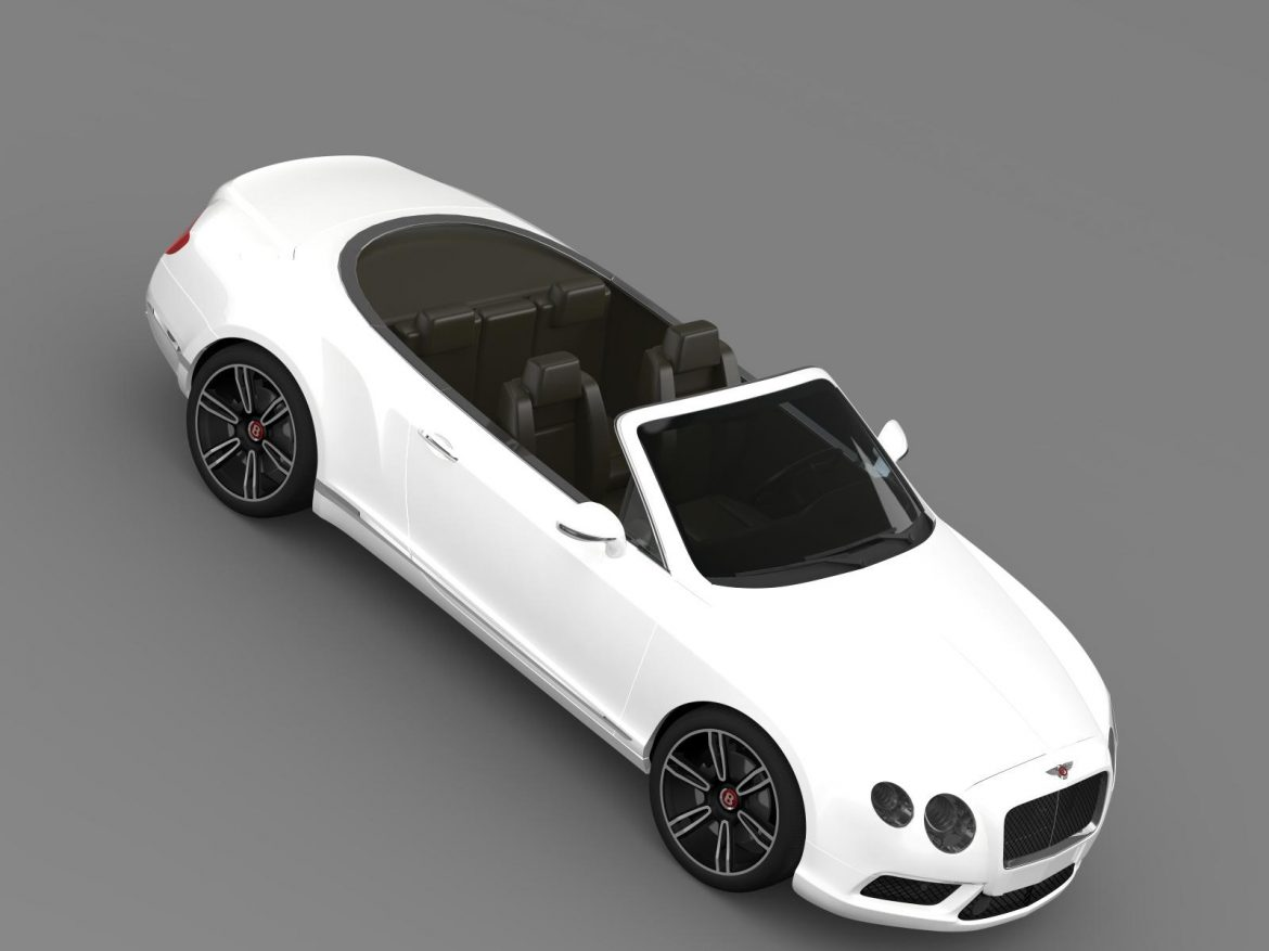 2013 bentley continental gtc v8 3d model 3ds max fbx c4d lwo ma mb hrc xsi obj 164088