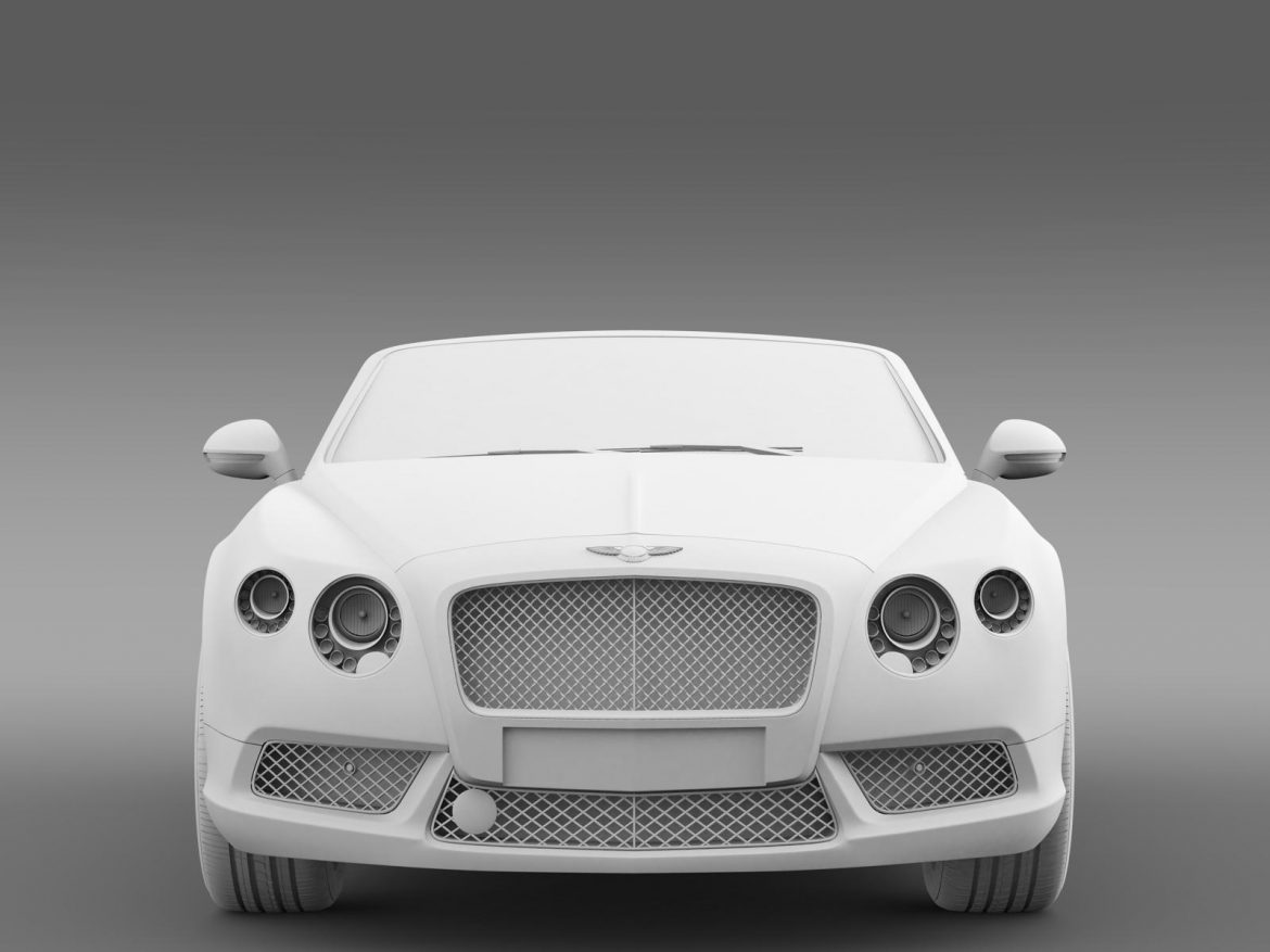 2013 bentley continental gtc v8 3d model 3ds max fbx c4d lwo ma mb hrc xsi obj 164089