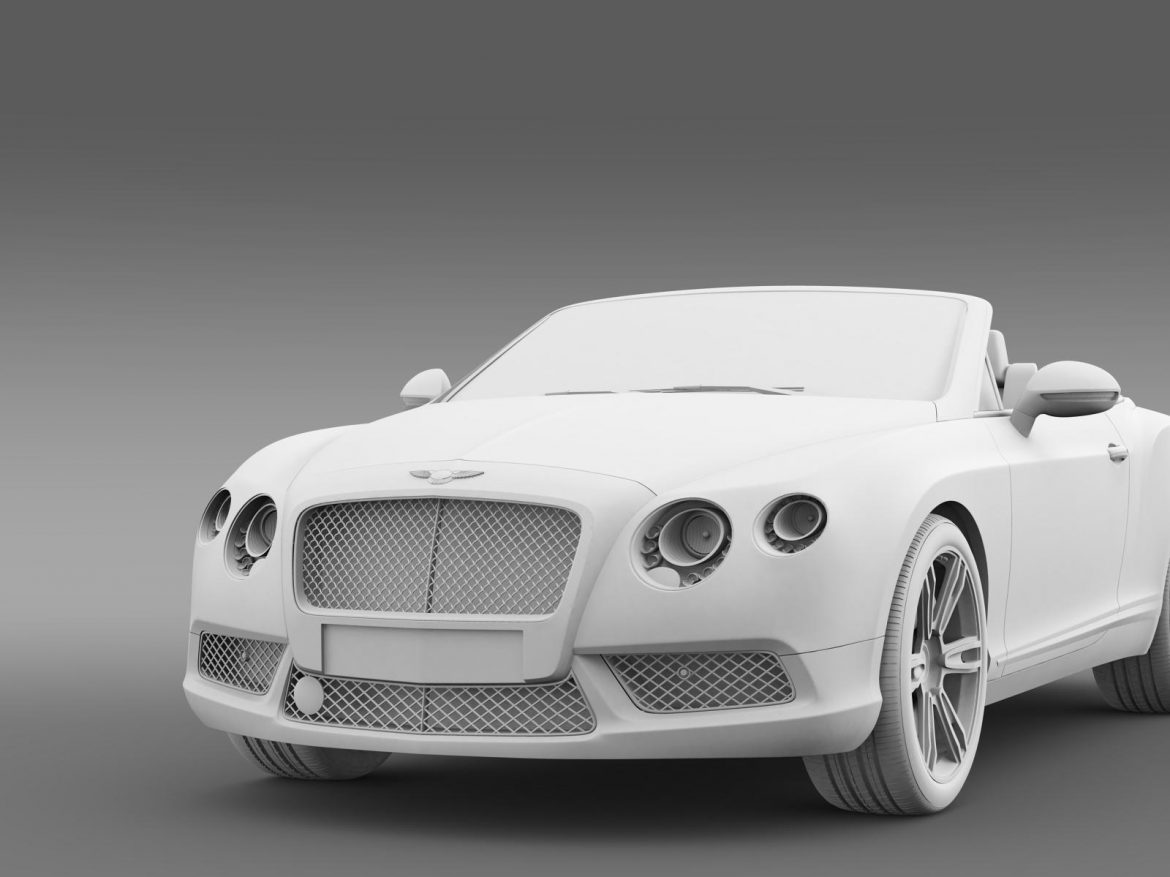 2013 bentley continental gtc v8 3d model 3ds max fbx c4d lwo ma mb hrc xsi obj 164091
