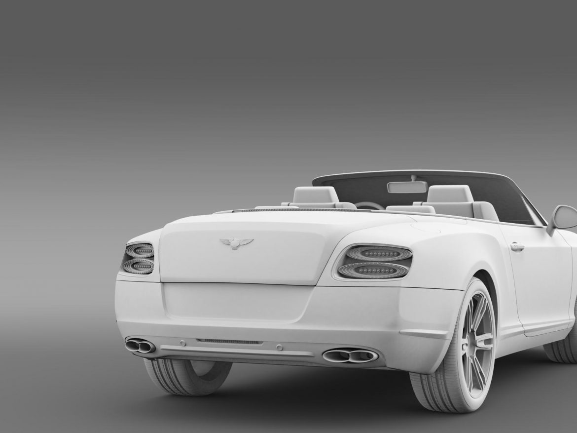 2013 bentley continental gtc v8 3d model 3ds max fbx c4d lwo ma mb hrc xsi obj 164092