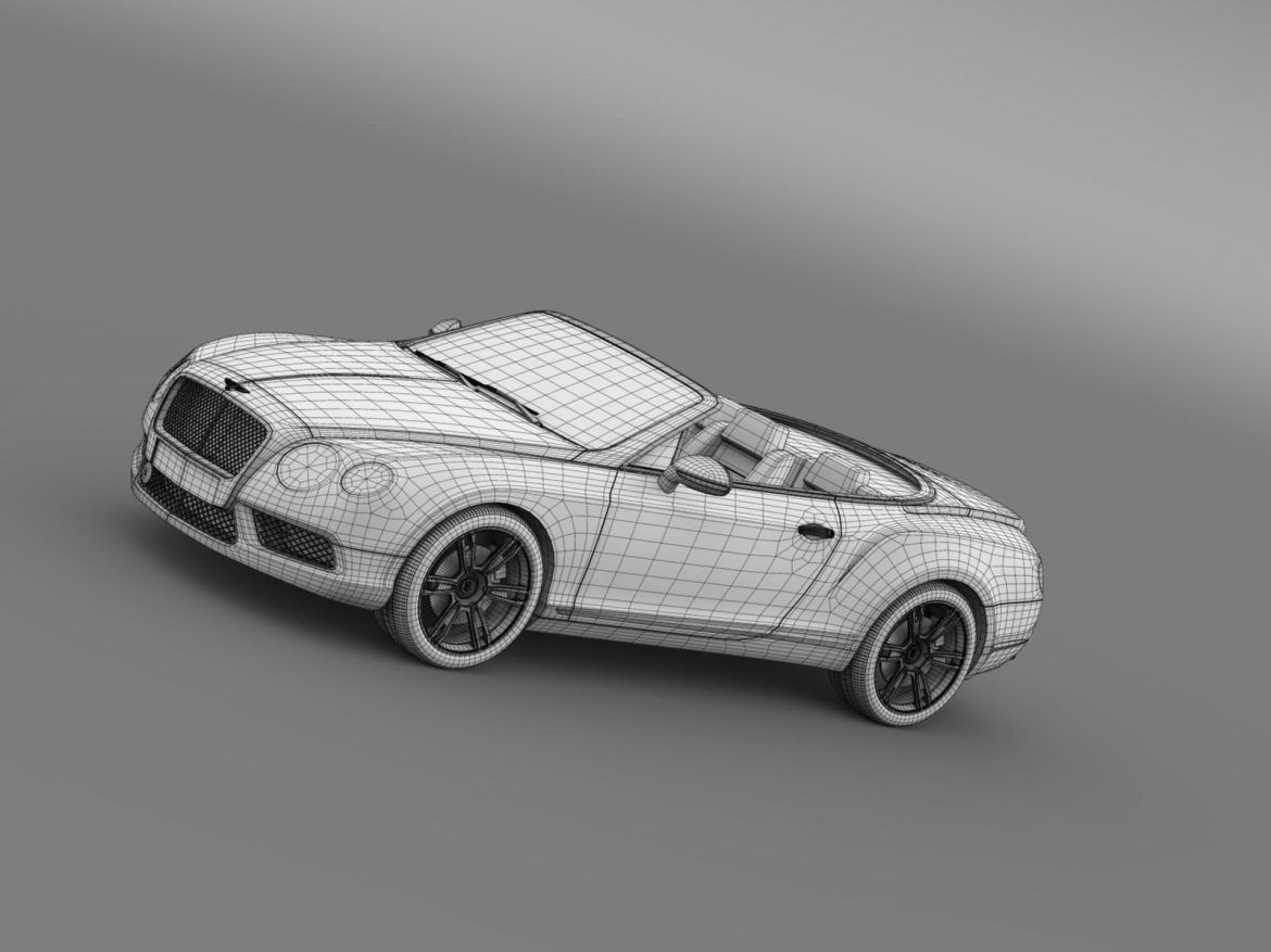2013 bentley continental gtc v8 3d model 3ds max fbx c4d lwo ma mb hrc xsi obj 164093