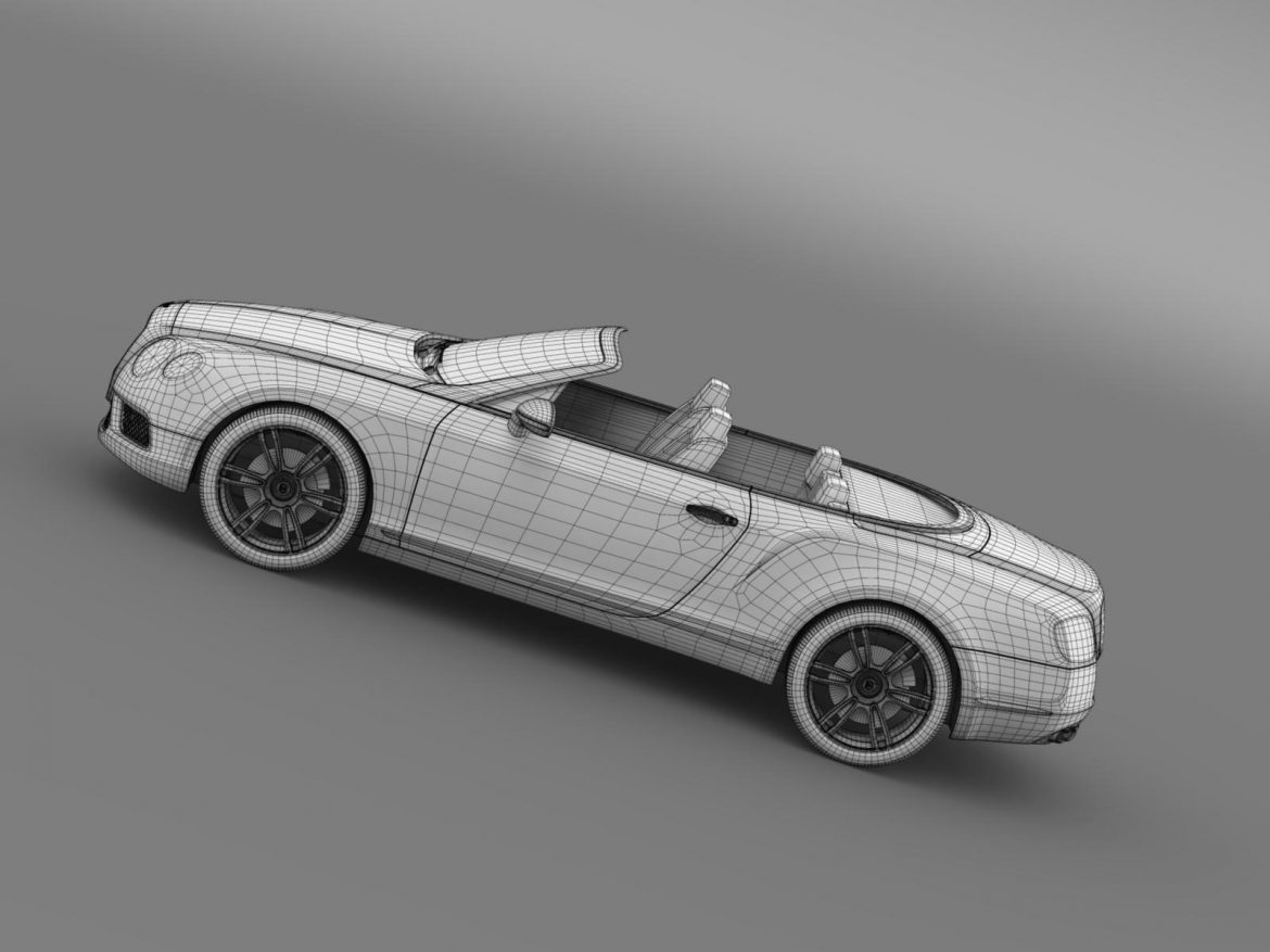 2013 bentley continental gtc v8 3d model 3ds max fbx c4d lwo ma mb hrc xsi obj 164094