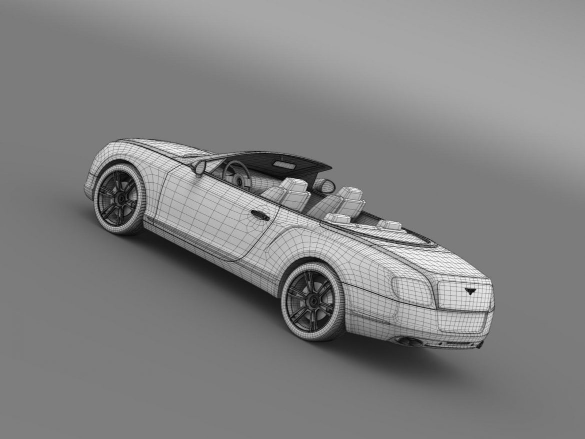 2013 bentley continental gtc v8 3d model 3ds max fbx c4d lwo ma mb hrc xsi obj 164095