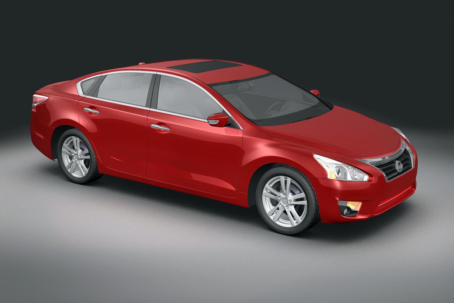2013 nissan altima Model 3d 3ds max fbx lwo obj 141839
