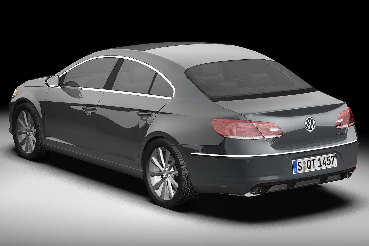 2013 volkswagen cc 3d model 3ds max fbx c4d lwo hrc xsi obj 136217