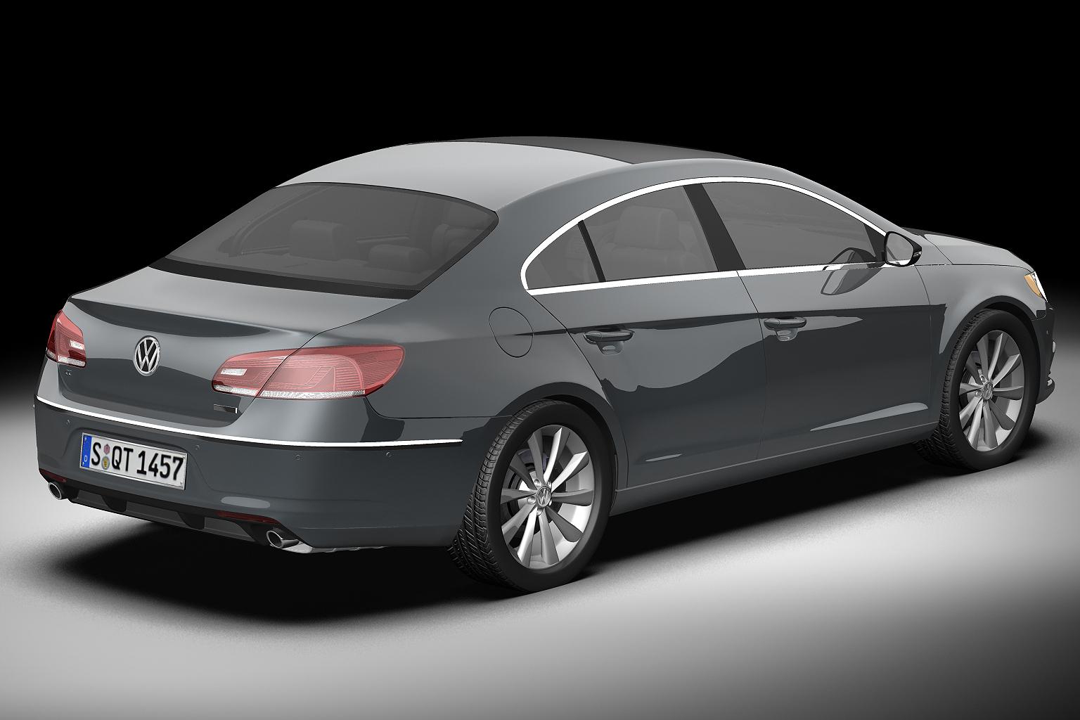 2013 volkswagen cc 3d model 3ds max fbx c4d lwo hrc xsi obj 136219