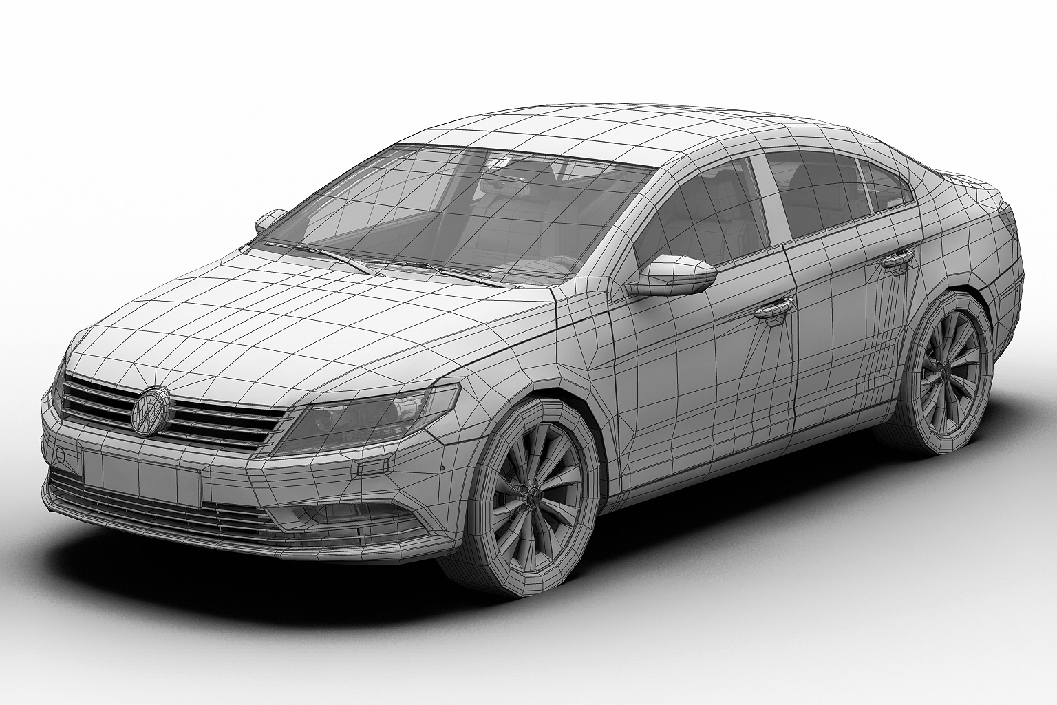 2013 volkswagen cc 3d model 3ds max fbx c4d lwo hrc xsi obj 136223
