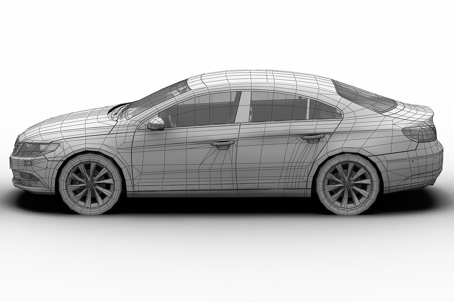 2013 volkswagen cc 3d model 3ds max fbx c4d lwo hrc xsi obj 136224