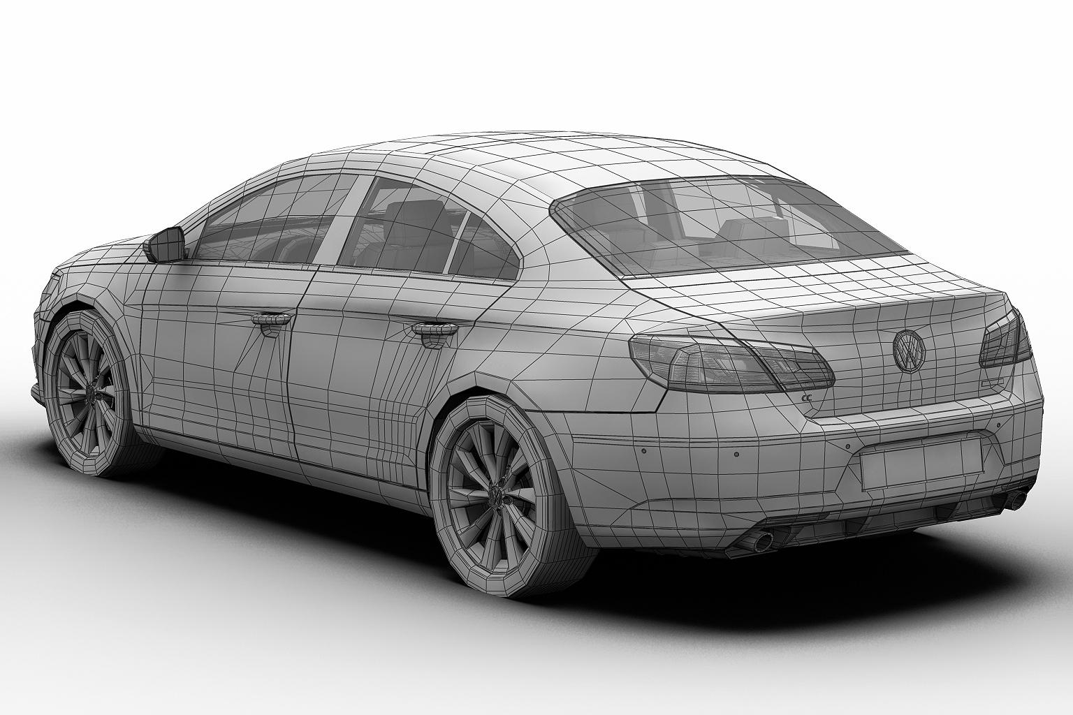 2013 volkswagen cc 3d model 3ds max fbx c4d lwo hrc xsi obj 136225