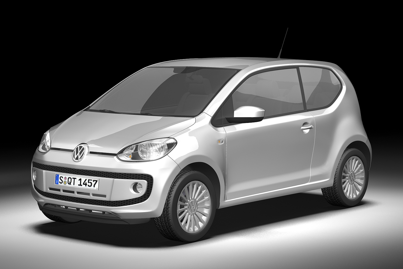 2013 volkswagen up 3d model 3ds max fbx c4d lwo hrc xsi obj 136204