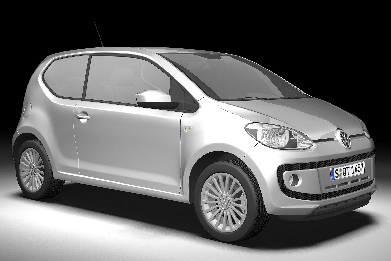 2013 volkswagen up 3d model 3ds max fbx c4d lwo hrc xsi obj 136210