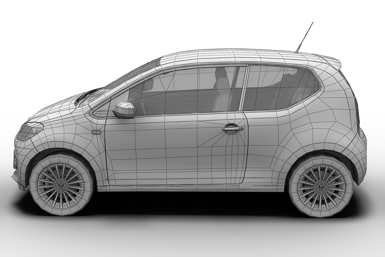 2013 volkswagen up 3d model 3ds max fbx c4d lwo hrc xsi obj 136213