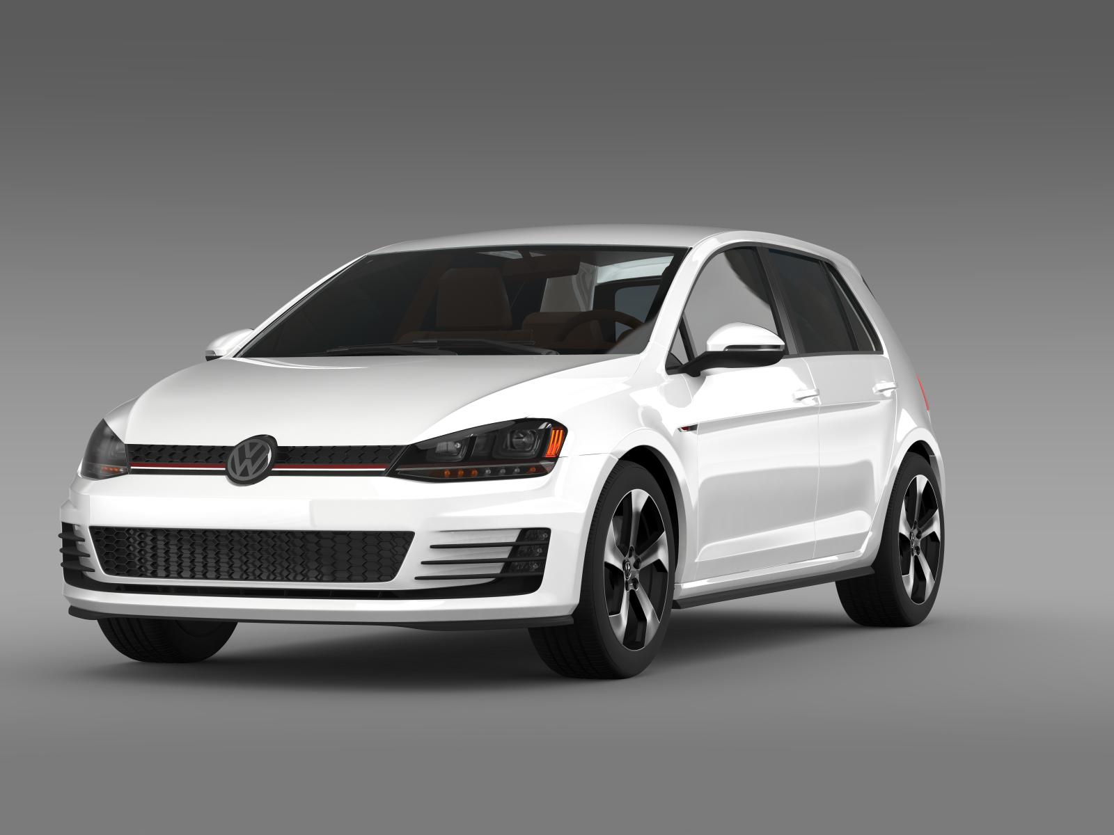 2015 volkswagen golf gti 5 door 3d model 3ds max fbx c4d lwo ma mb hrc xsi obj 164671