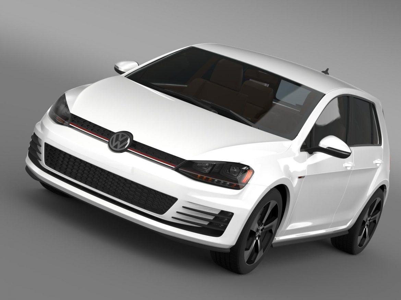 2015 Volkswagen гольфийн gti 5 хаалга 3d загвар 3ds max fbx c4d lwo ma mb hrc xsi obj 164672