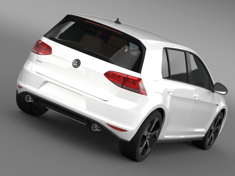 2015 Volkswagen гольфийн gti 5 хаалга 3d загвар 3ds max fbx c4d lwo ma mb hrc xsi obj 164673