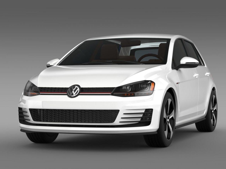 2015 Volkswagen гольфийн gti 5 хаалга 3d загвар 3ds max fbx c4d lwo ma mb hrc xsi obj 164674