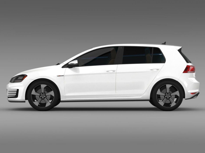 2015 Volkswagen гольфийн gti 5 хаалга 3d загвар 3ds max fbx c4d lwo ma mb hrc xsi obj 164675