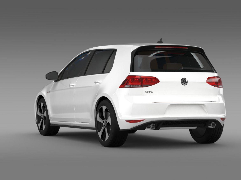 2015 Volkswagen гольфийн gti 5 хаалга 3d загвар 3ds max fbx c4d lwo ma mb hrc xsi obj 164676