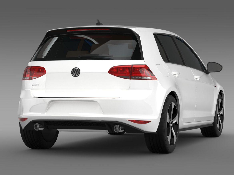 2015 Volkswagen гольфийн gti 5 хаалга 3d загвар 3ds max fbx c4d lwo ma mb hrc xsi obj 164677